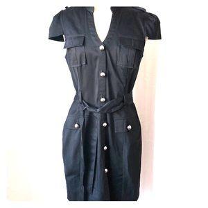Express black button down dress size 10